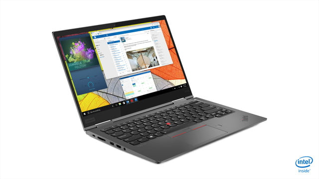 lenovo updated thinkpad x1 carbon yoga ces 2019 06 hero front facing right