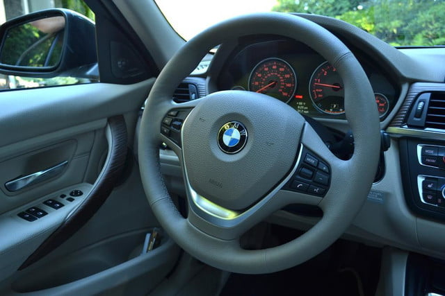 2012 bmw 335i review interior steering wheel