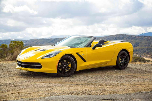 2013 year spyder 2014 corvette stingray convertible front left angle 1500x1000