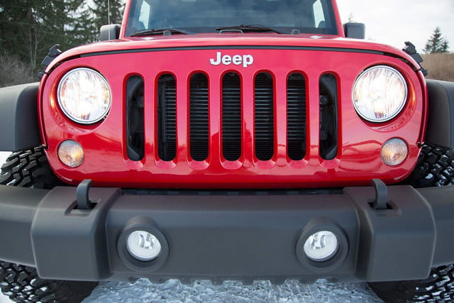 2014 Jeep Wrangler Unlimited Sport exterior front macro