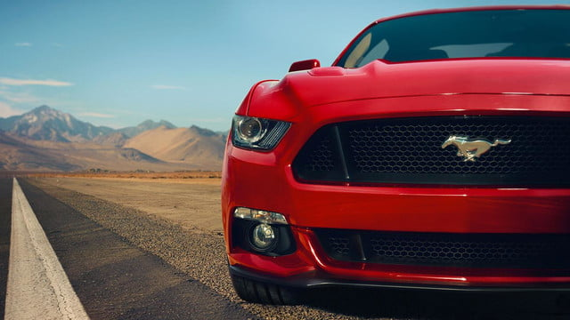 2015 Ford Mustang front macro