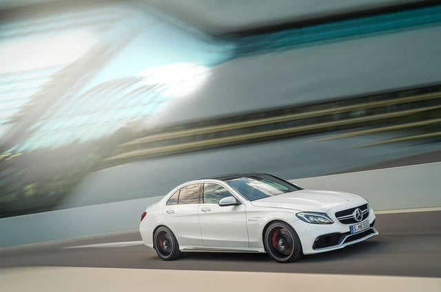 2015 mercedes amg c63 dynamic right angle press image