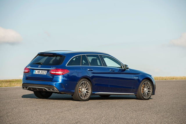 2015 mercedes amg c63 right angle press image