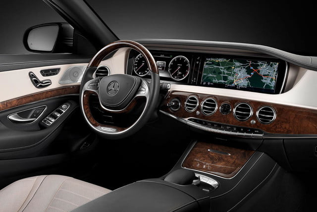 2015 Mercedes Benz S550 front interior angle