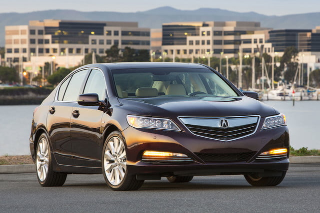 2016 Acura RLX Sport Hybrid parked front angle