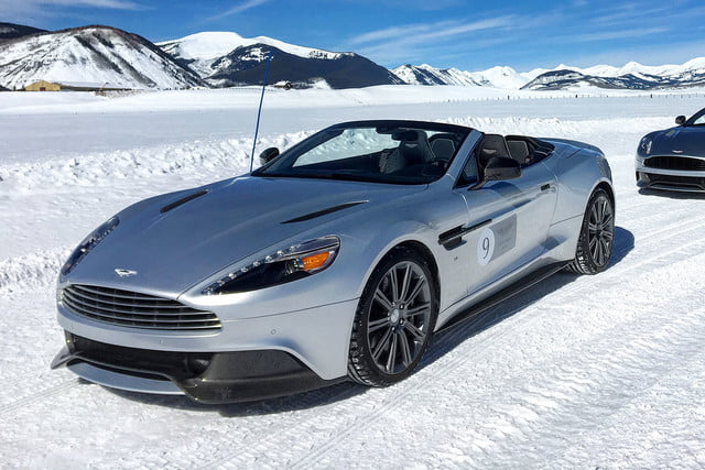 2016 aston martin on ice first drive front angle