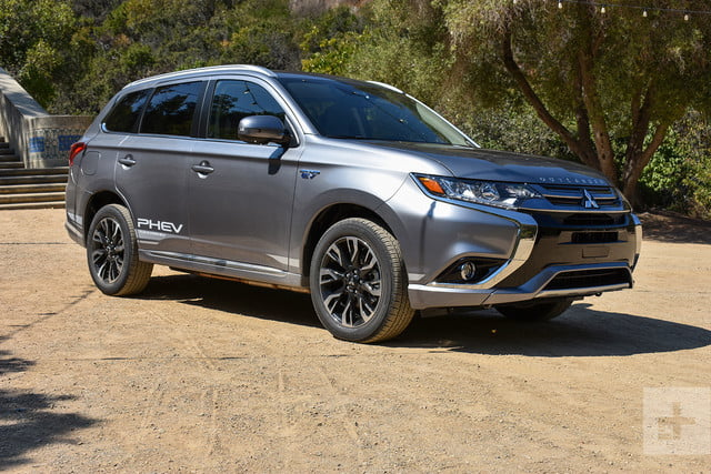 2018 Mitsubishi Outlander PHEV first drive review front right angle
