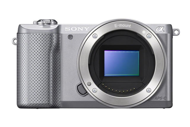 sony alpha a5000 mirrorless interchangeable lens camera photos front silver