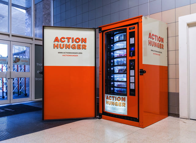 homeless vending machine action hunger