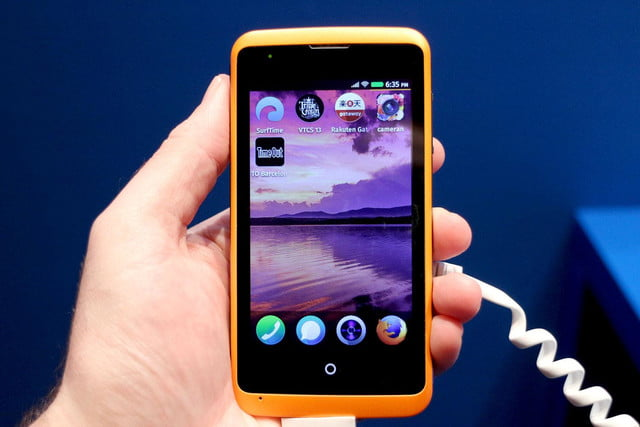 Alcatel OneTouch Fire Firefox OS home