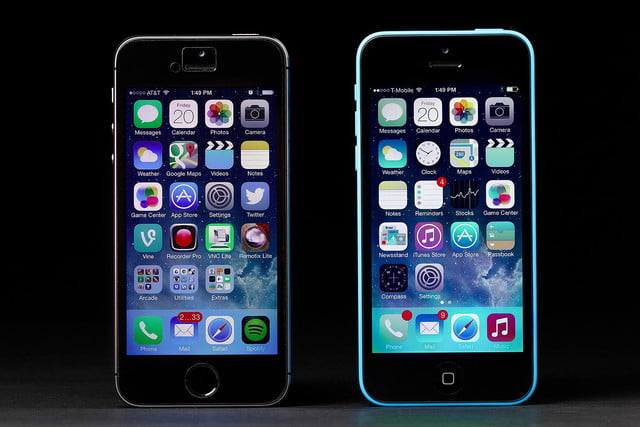 apple iphone 5c vs 5s screens