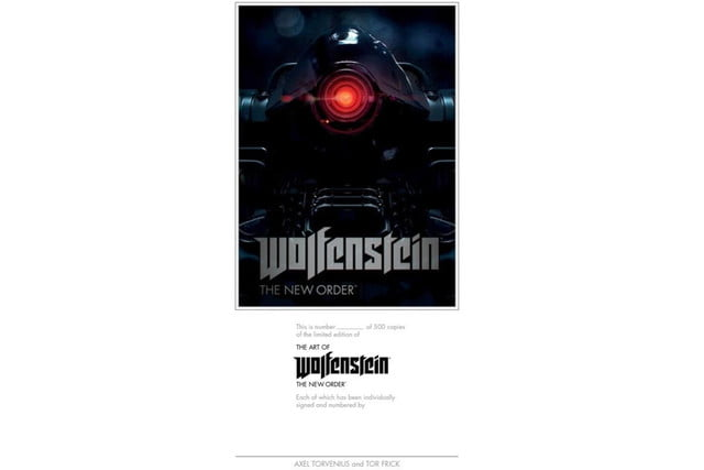 bethesda release art book coffee table companion wolfenstein new order of limited edition