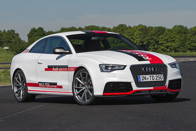 audis rs5 tdi concept uses electronic turbocharger developed le mans audi  press white angled