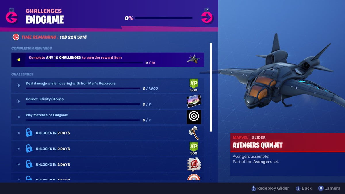 Fortnite Avengers Endgame challenges guide: Repulsors Damage and Collect Infinity Stones