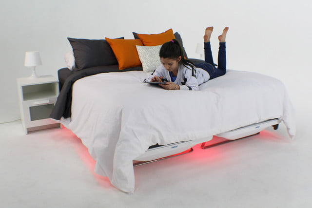 balluga is a smart bed with ac and air suspension girl on