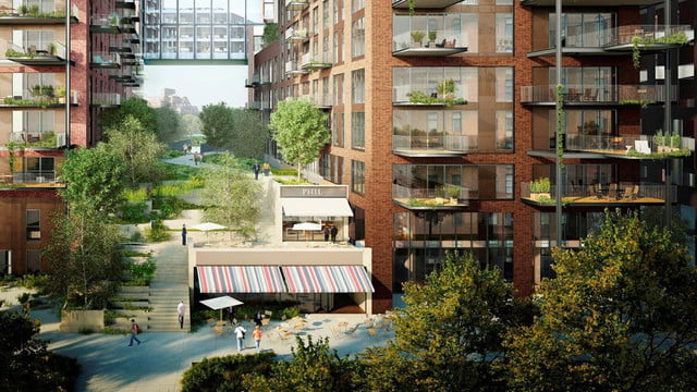 this swimming pool will be 100 feet in the air and join two buildings ballymore embassy gardens 14