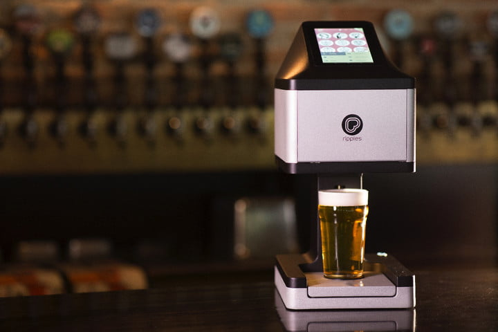 This printer can create an image directly onto beer foam