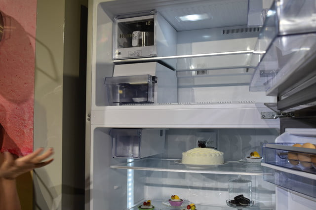 bekos homecream fridge has a built in ice cream maker beko