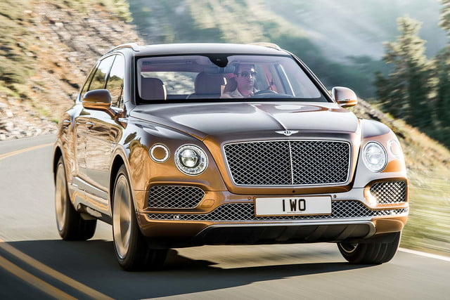 bentley says its bentayga suv can do it all but will customers bite  on road front three quarter tracking 2