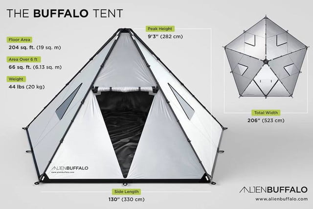 alien buffalo tents tent 0  sc 1 st  Digital Trends & Going to Burning Man? Youu0027ll want this tent