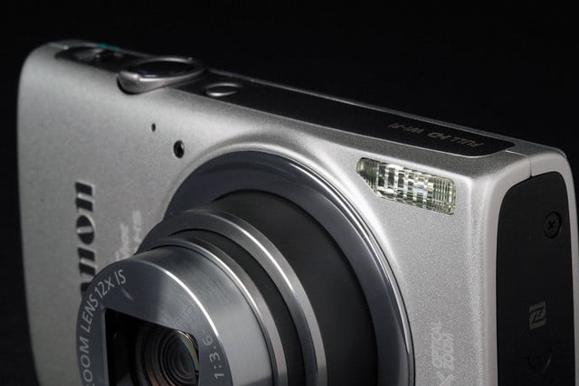 Canon ELPH 340HS top angle