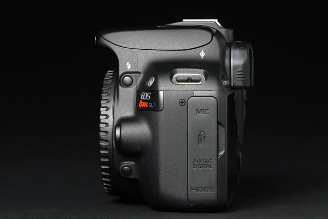 Canon Rebel SL1 left side
