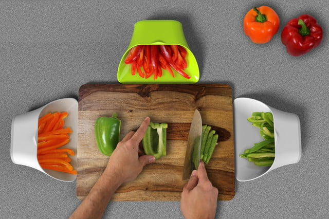 choptainer is a bin that gives you more cutting board space