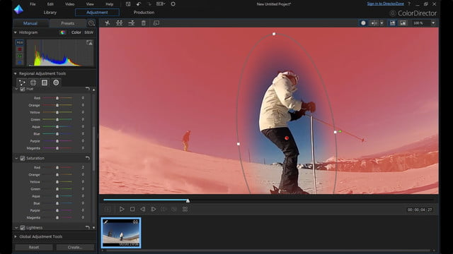 cyberlink director suite 4s new features include action cam video editing radial mask