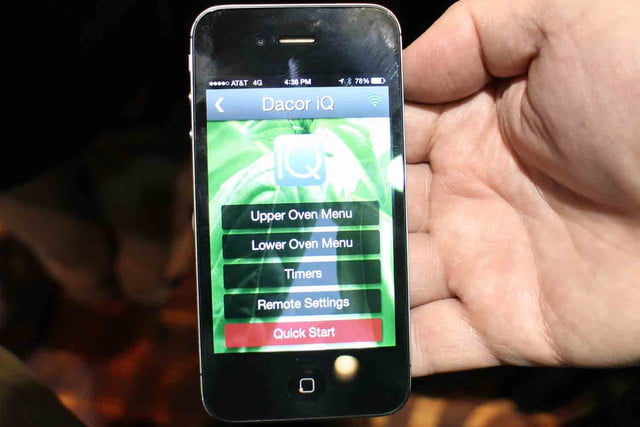 dacors voice activated oven debuts at ces 2015 dacor discovery iq app