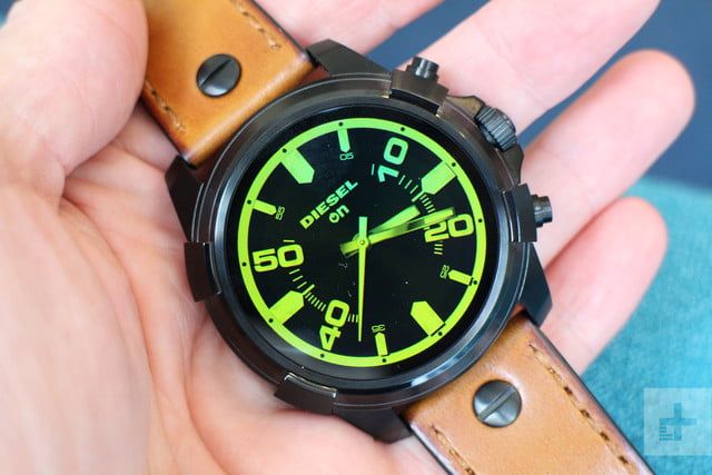 Diesel On Full Guard Smartwatch face in hand