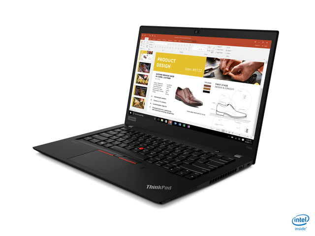 lenovo announces new thinkpad l x and t models for 2020 04 t14s black hero intel front facing left