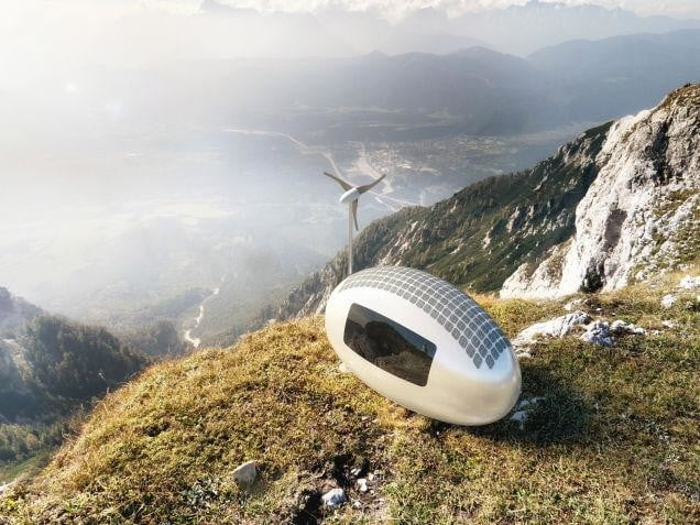 ecocapsule solar wind powered mobile home 1