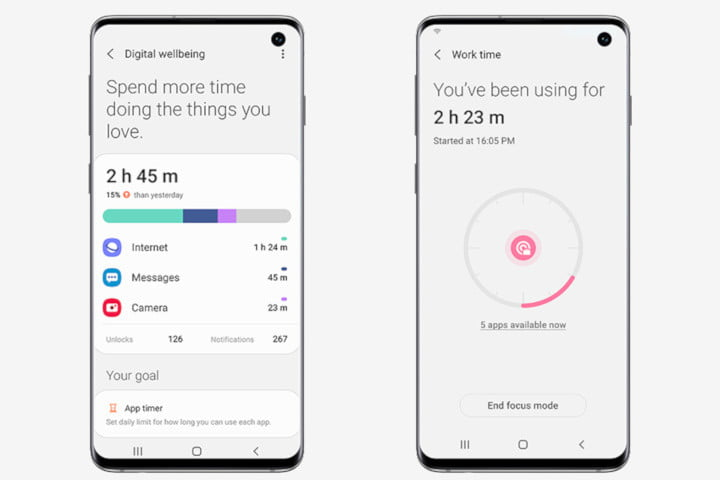 one ui beta launches for galaxy s10 in the us android 10 digital wellbeing
