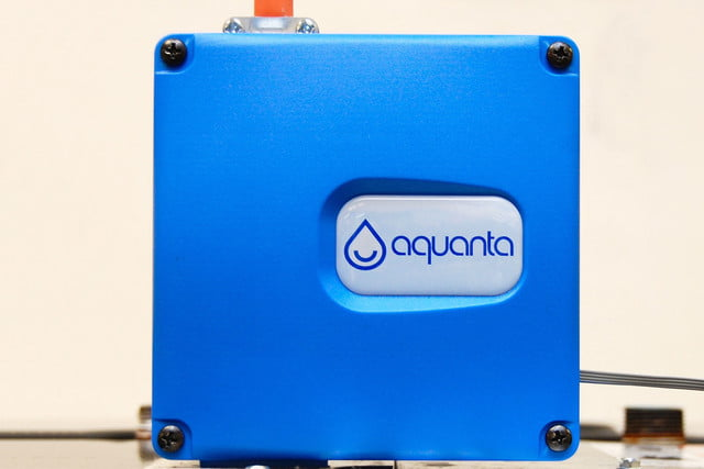 the aquanta smart hot water controller  installed close up