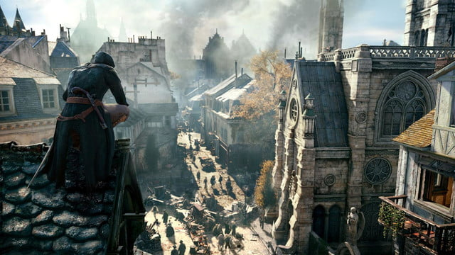 assassins creed unity reveals new weapons missions team opportunities parisrooftop