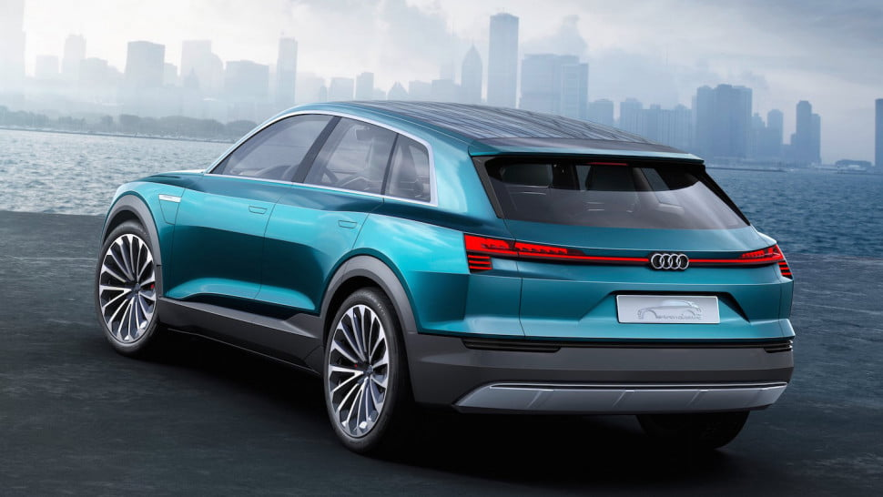 the top 10 best cars from frankfurt motor show audi e tron quattro concept rear angle 2 970x546 c