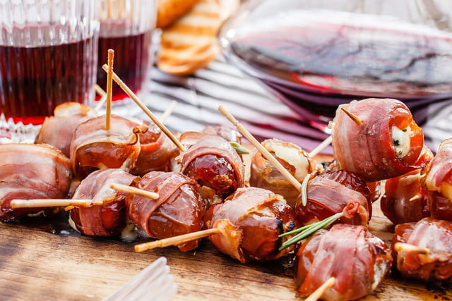 5 super bowl snacks you can bake all at once bacon wrapped dates