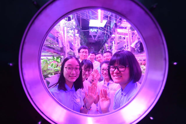 Beihang University volunteers staying in Yuegong-1, also known as Lunar Palace 1