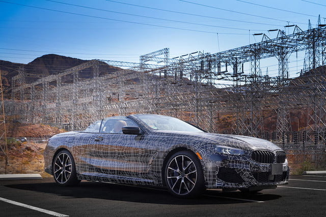 bmws tests its latest 8 series convertibles prototype in death valley bmw convertible testing
