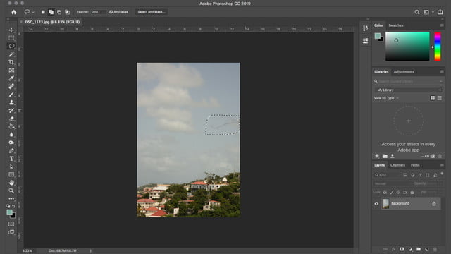 how to remove an object in photoshop content aware fill cafselectobject