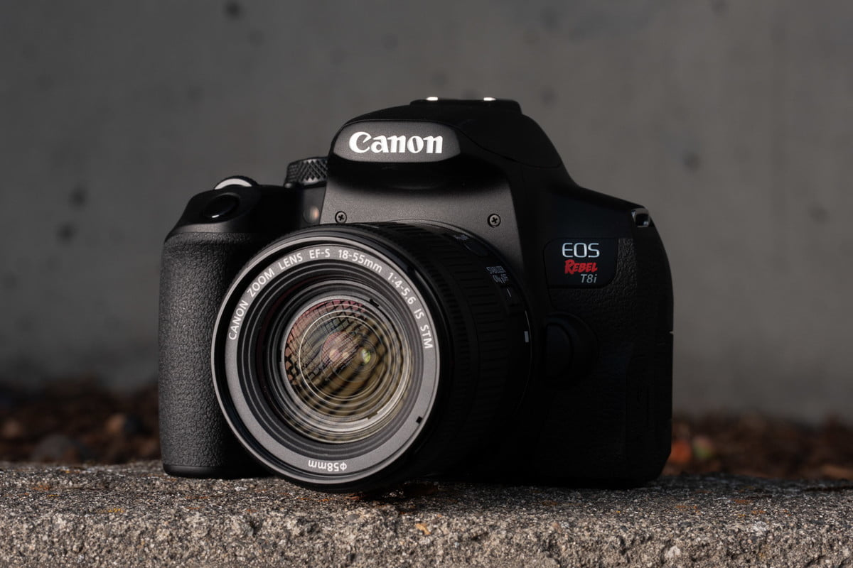 Product photo of Canon EOS Rebel T8i, front side