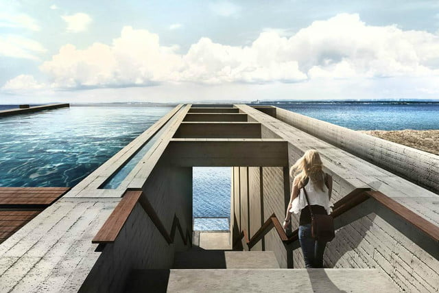 casa brutale is a conceptual cliff house on the aegean sea view