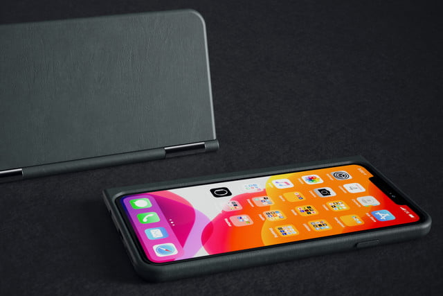 the castaway adds a chromium powered second screen to your smartphone leather 2