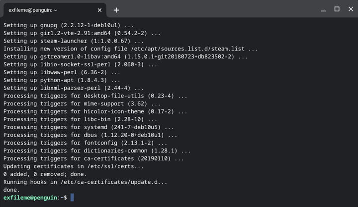 Chromebook Update Linux Packages