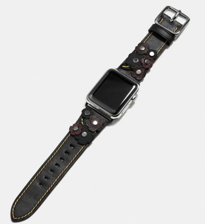 best apple watch bands coach band with tea rose applique2