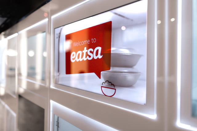 eatsa automated fast food cubby display