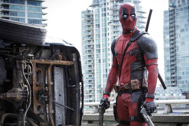 deadpool with guns and truck
