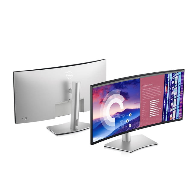 dell refreshes ultrasharp monitors ces 2021 38 curved usb c hub monitor front back