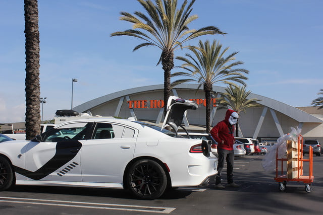 stormtroopers day off putting the galaxy on hold to enjoy dodges charger srt hellcat dodge stormtrooper 0788
