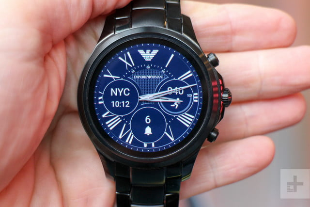 Emporio Armani EA Connected Smartwatch review watchface blue